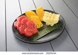 "Fresh fruit cut into cote shapes. ""They'll forget all about the candy!"" No they won't!"