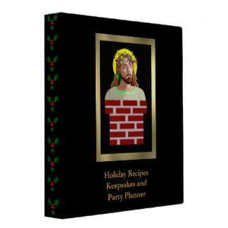 Chimney Jesus binder for your holiday picture memories! $21.95