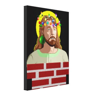 Chimney Jesus stretch canvas print - $158.95