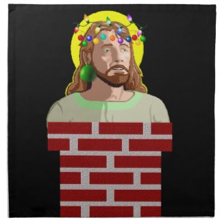 Chimney Jesus Napkins- $50.95 for a set of four. (OK, that's a little ridiculous!)