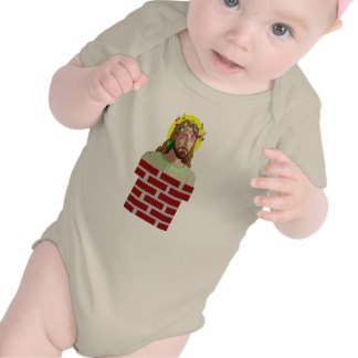 Chimney Jesus onesies for the baby! $26.95